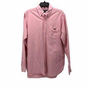 American Living Womens Oxford Shirt Pink Pocket M